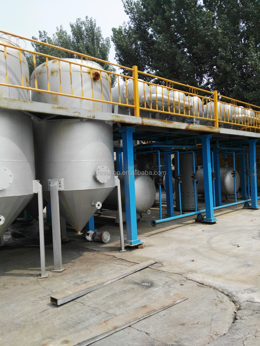 Latest technology Continuous pyrolysis oil distillation production line