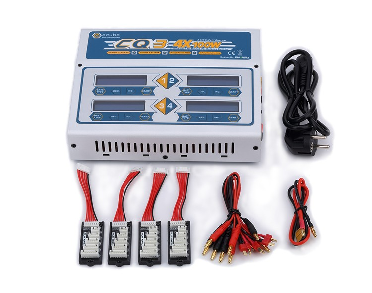 Ev-peak Cq3 100wx4 Rc Balance Lipo Battery Charger Discharger ...