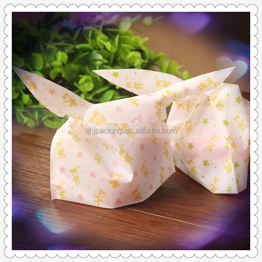 Customized Rabbit ears Plastic Bread Packaging Bag