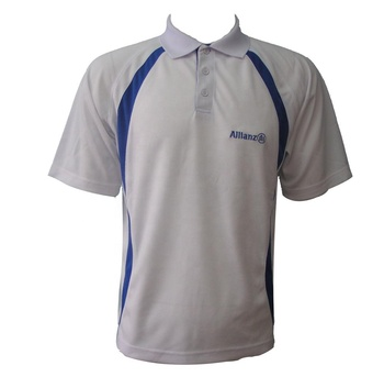 Breathable Short Sleeves Dry Fit Sport Polo Shirt Custom Spliced Polo with Embroidery Logo