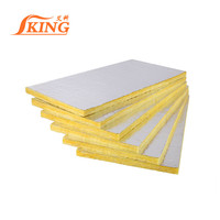 Fireproof and soundproof 80kg/m3 fiber glass wool insulation board