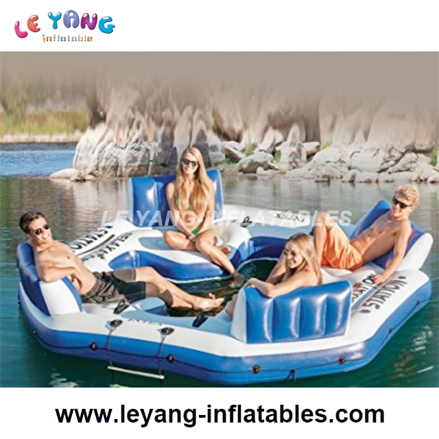 Water park summer sport play game Inflatable Island Lounge For Pool Party