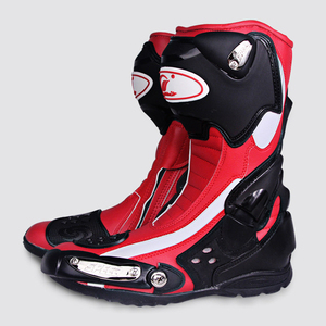 Comfortable Leather Motorcycle Shoes Racing Boots For Men