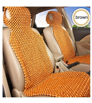 Houten Zomer Cool Massage Autostoel Cover, Anti-bacteriën Anti-decubitus Seat Cover