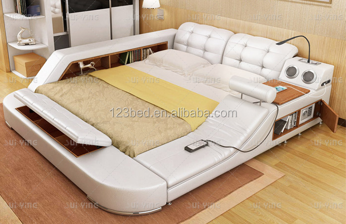 A626 moderne bed met opslag massage functies multifunctionele bed sets