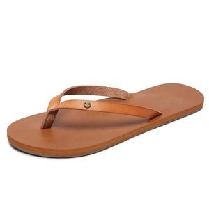 Personalized Leather strap womens popular flip flops flat nude beach flip flops