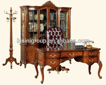 American Antique Design Soild Wood Office Desk Set;American Wooden Office  Furniture,Classical Office