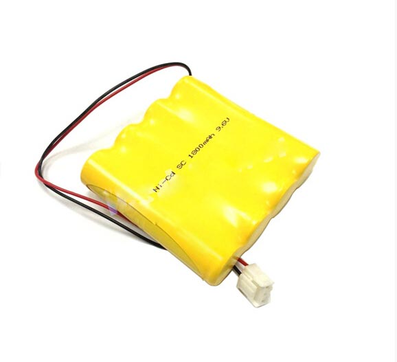 Customized 9.6v ni cd rechargeable battery pack with wire and connector