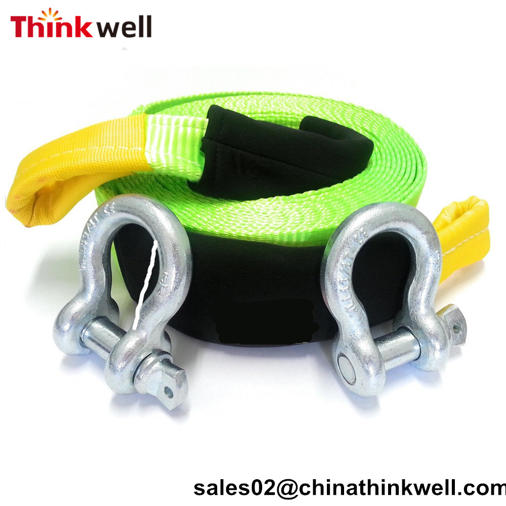 Emergency Heavy Duty D Ring Recovery Tow Strap