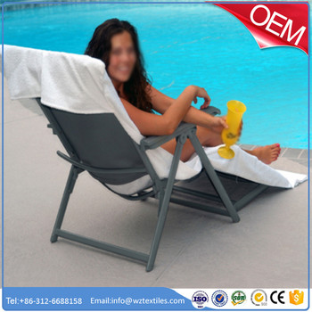 serviette chaise longue