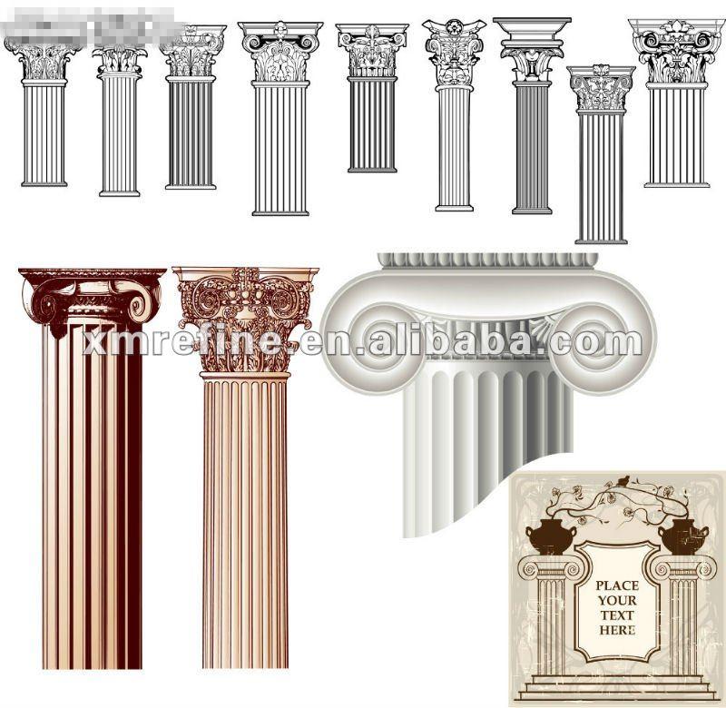 Romano columnas j nicas pilares identificaci n del for Pilares y columnas