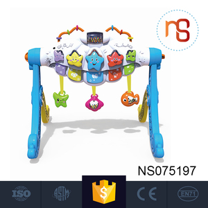Wholesale plastic musical mini baby learning walker with funny toys