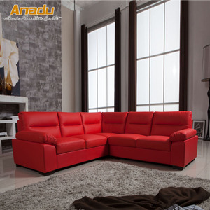 small size uk style modern corner bonded leather sofa AL608C