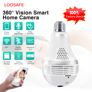 New design 960p hidden spy camera light bulb 1.3mp wifi bulb camera 360 degree