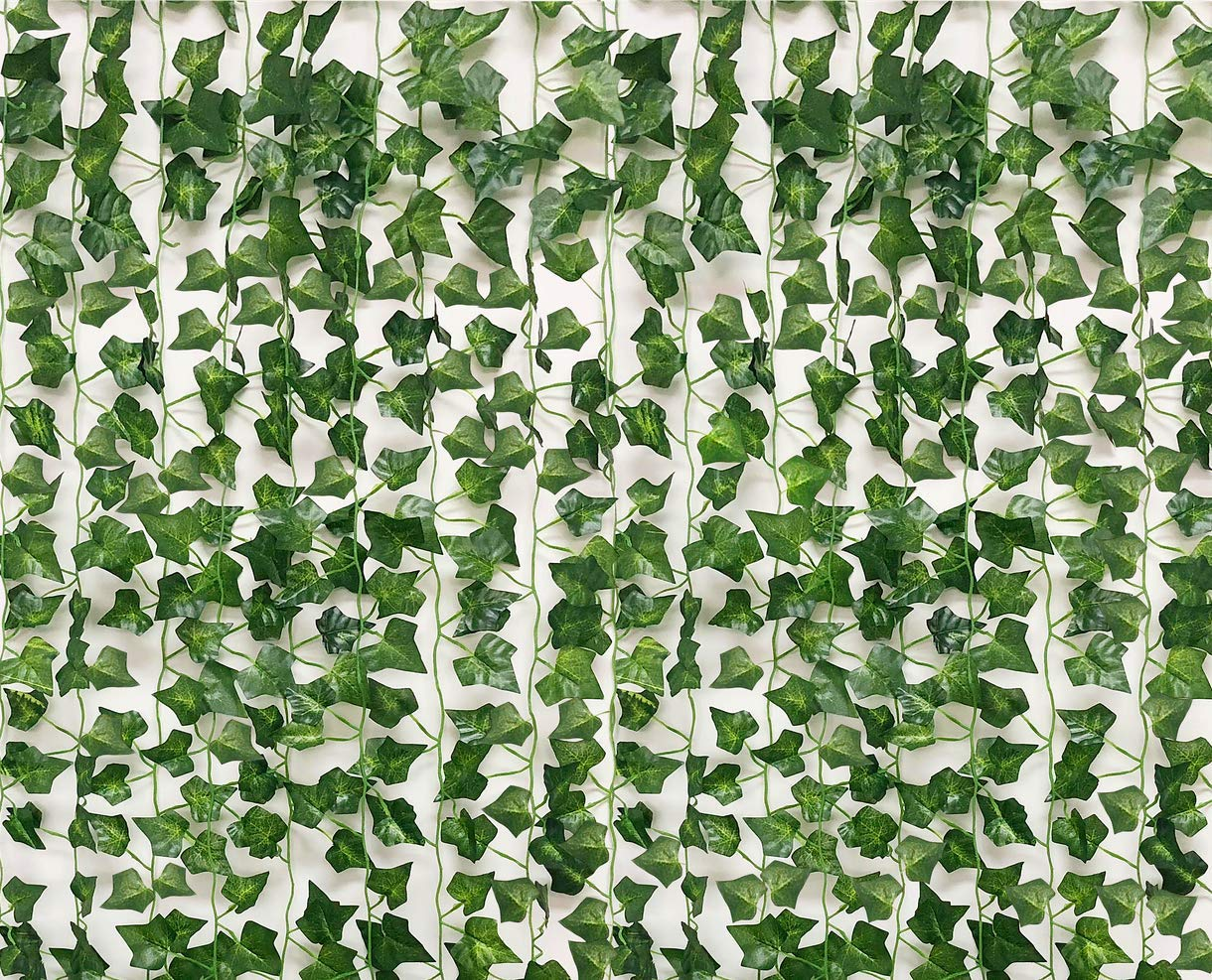 Buy See Greeen 14 Pieces 98 Feet Ivy Garland Jungle Theme Party Supplies Decorations Safari Artificial Vine Leaf Garland Fake Moss Table Runner Balcony Wall Wedding Classroom Backdrop Leaves In Cheap Price