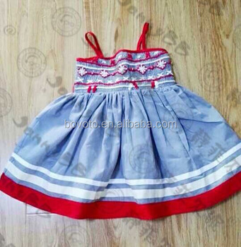 46034f2d0 Hot Sale Baby Handmade Smocked Dress Cotton Linen Smocked Girl s ...