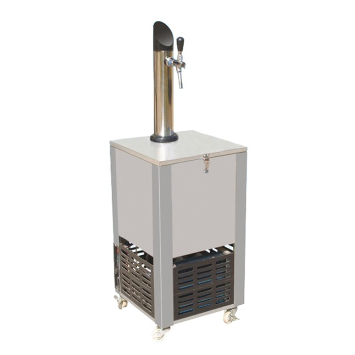 Draft beer cooler for dispensing systems
