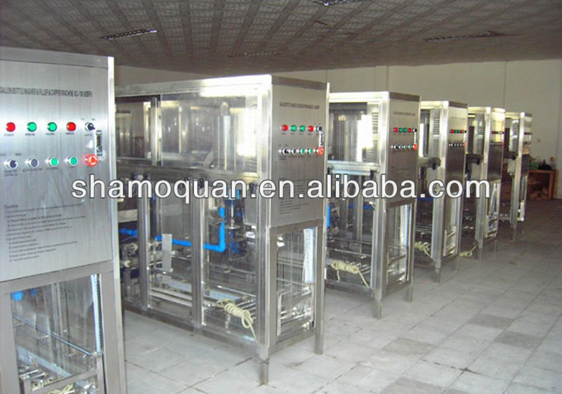 high quality automatic 5 gallon jar washing filling capping machine
