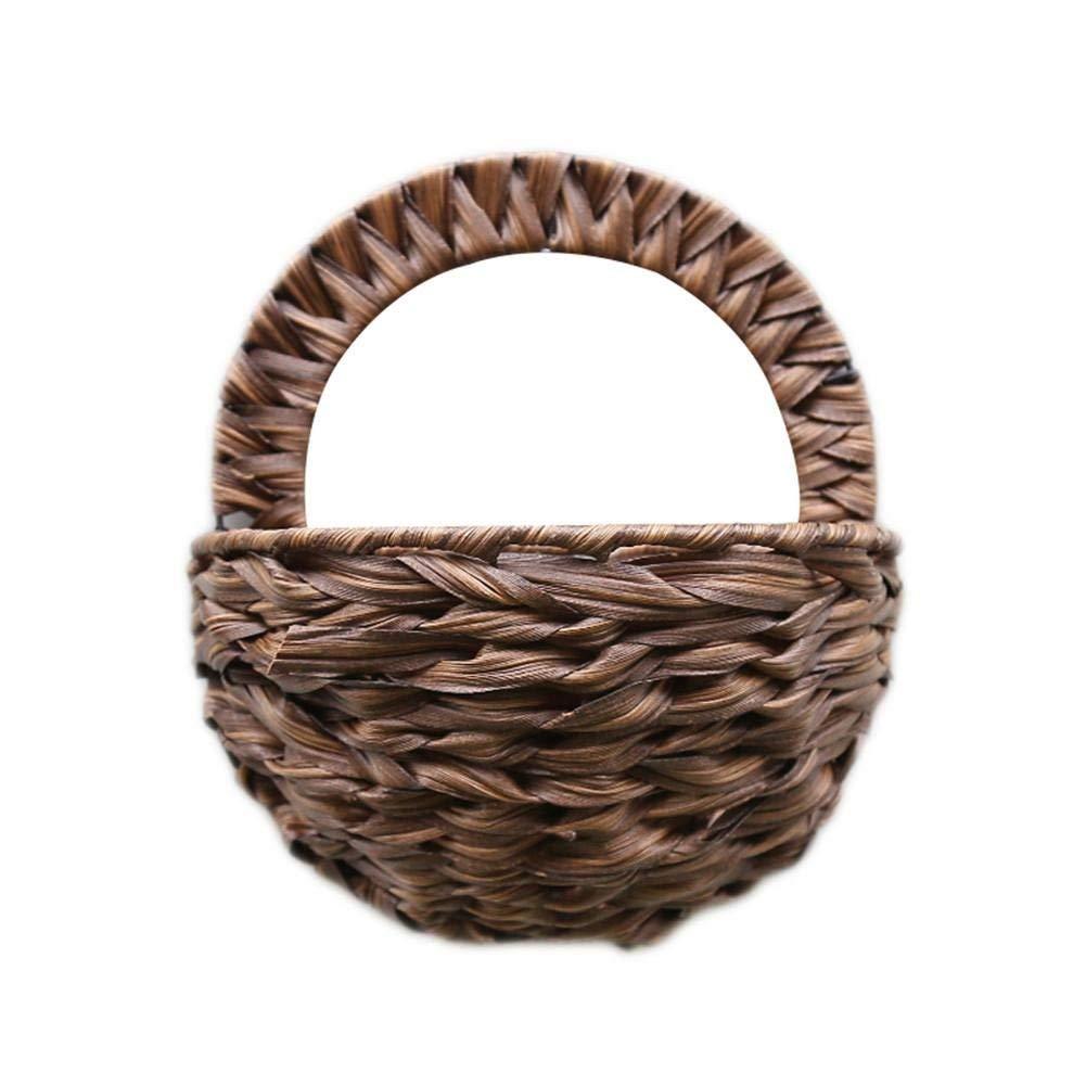 Home & Garden European Style Flower Hanging Basket New Arrival Natural Wicker Flower Basket Pot Planter Rattan Vase Basket Home Garden Wall Ha