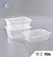 Microwave Disposable Plastic Take Away Bento Lunch Box with Lid