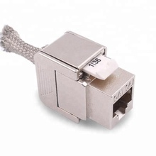 New design liga de zinco 10g 180 graus keystone jack cat6a FTP <span class=keywords><strong>rj45</strong></span> blindado toolless cat 6a