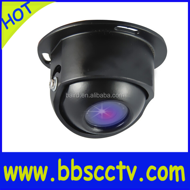 security Image Reverse Left-right mirror invisible car camera with bnc park line osd