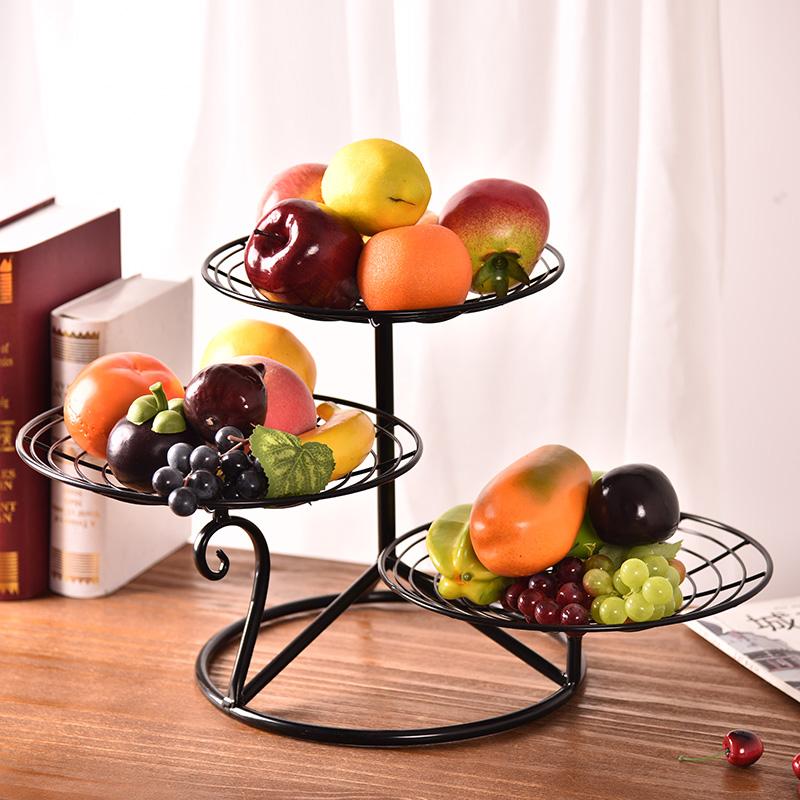 Tiers Fruits Cake Dessert Plate