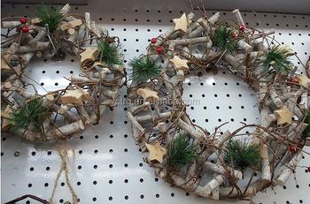 Artificial Wooden Christmas Wreath