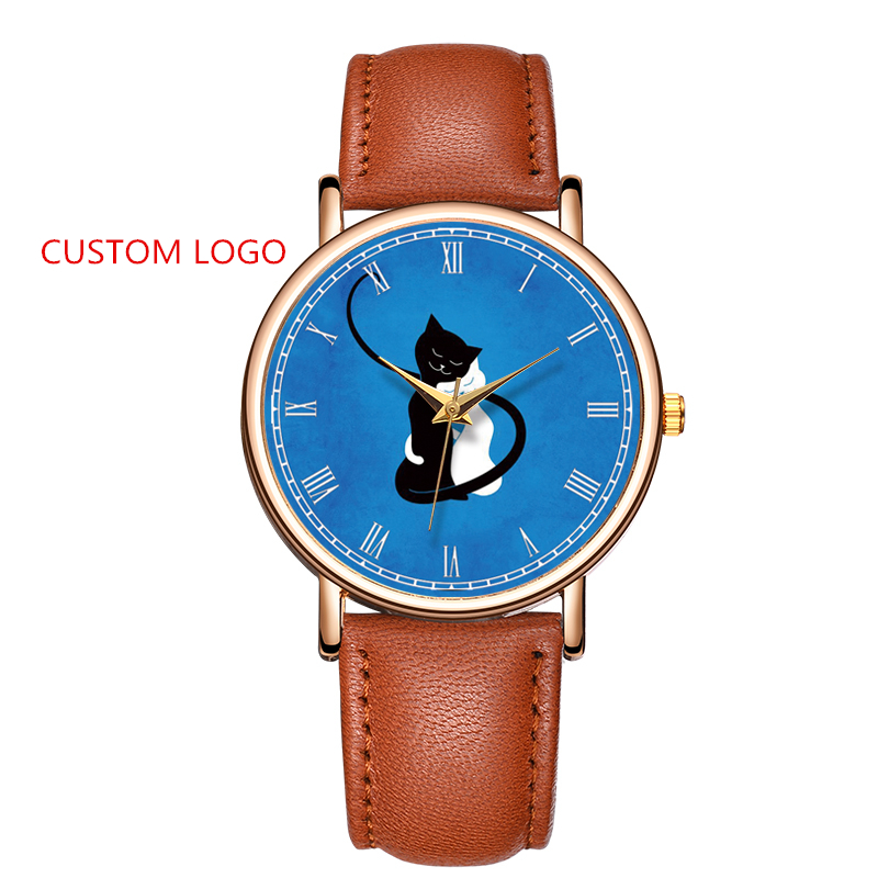 Fancy OEM Watch Manufacturer Cheap Wrist Watches Relojes Custom Your Own Logo Watches Roman Numeral Dial Customized