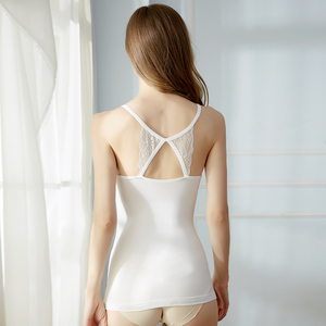 Hot Selling Sexy Women's Seamless Stretchy Soft Camisole White Racerback Undershirts