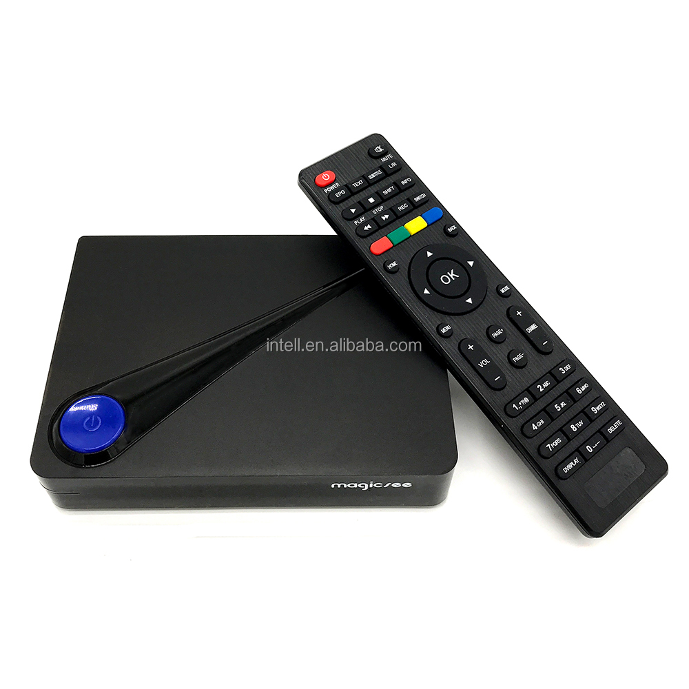 ¡Nueva llegada! Magicsee c300 triple sintonizador DVB android s2 + t2 + C 4k android decodificador wifi usb pvr set de Top Box android