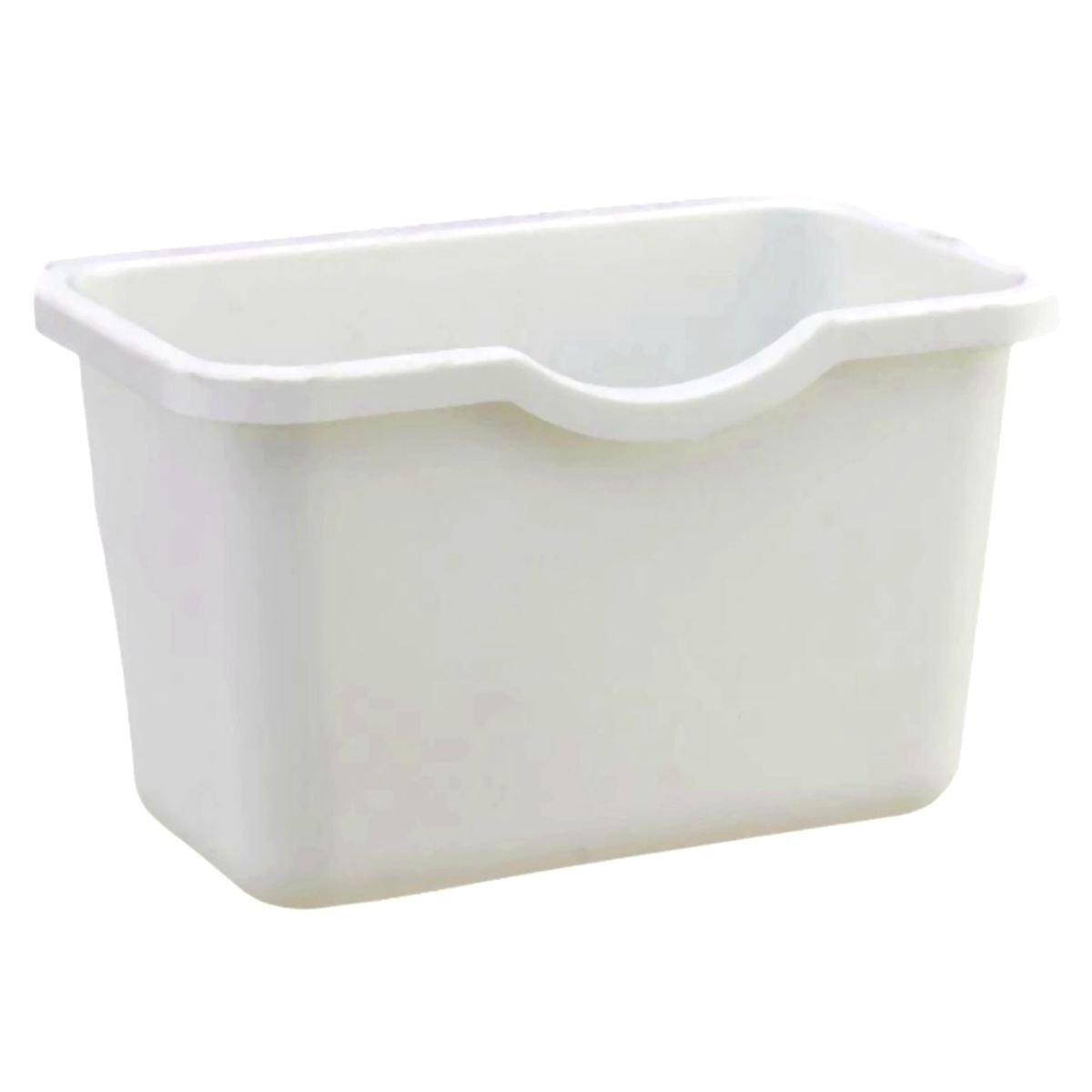 Creative Plastic Basket Wastebaskets VANORIG Multifuctional Hanging Trash Can Waste Bins Deskside Recycling Garbage Bowls Can Containers ,Pack of 3 (White)