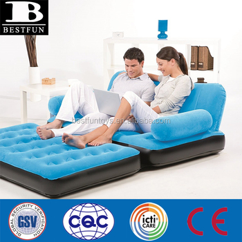 High Quality Inflatable Air Sofa Flocking Inflatable Lounger Durable