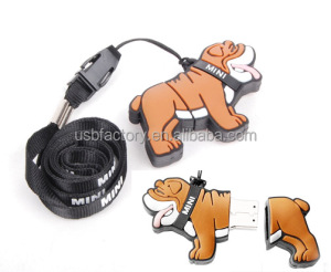 Real full capacity 16GB 32GB Cartoon Bulldog usb flash drives pendrives memory stick