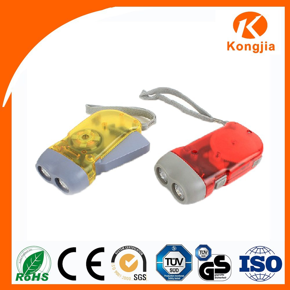 Emergency Rechargeable ABS Portable Hand Crank Flashlight Led Torch Mini Lamp Dynamo