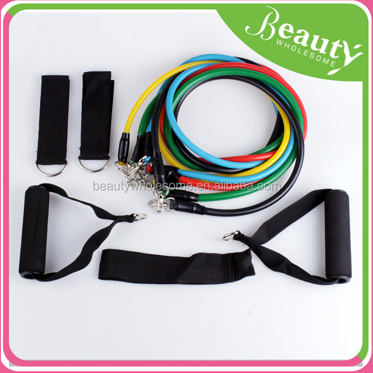 11Pcs/Set Fitness Resistance Bands Exercise Tubes Practical Elastic Training Rope