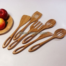 China manufacturer stocked high quality cutlery of funny 100% bamboo fork and spoon set