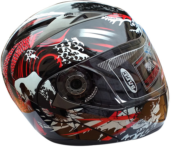 DOT approved safety flip up wholesale helmet with double visors