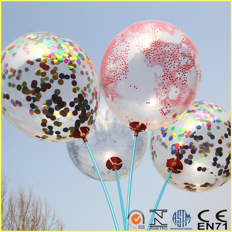 Chinese transparent foil confetti balloon
