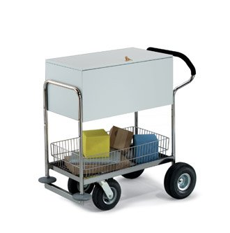 Charnstrom Deluxe Solid Medium Metal Cart with Locking Top (B245)