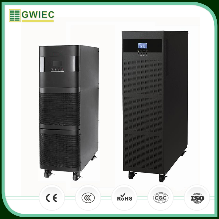 GWIEC China Low Price Pure Sine Wave Online Uninterrupted Power Supply UPS 3kva 2400W With Battery