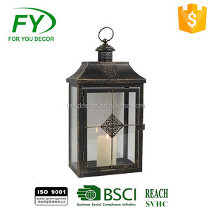 Gifts & Decor Contemporary Metal Candle Holder Cemetery Tealight Lantern