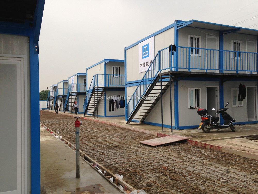high quality and best price moduler prefabricated sandwich panel container house for dormitory