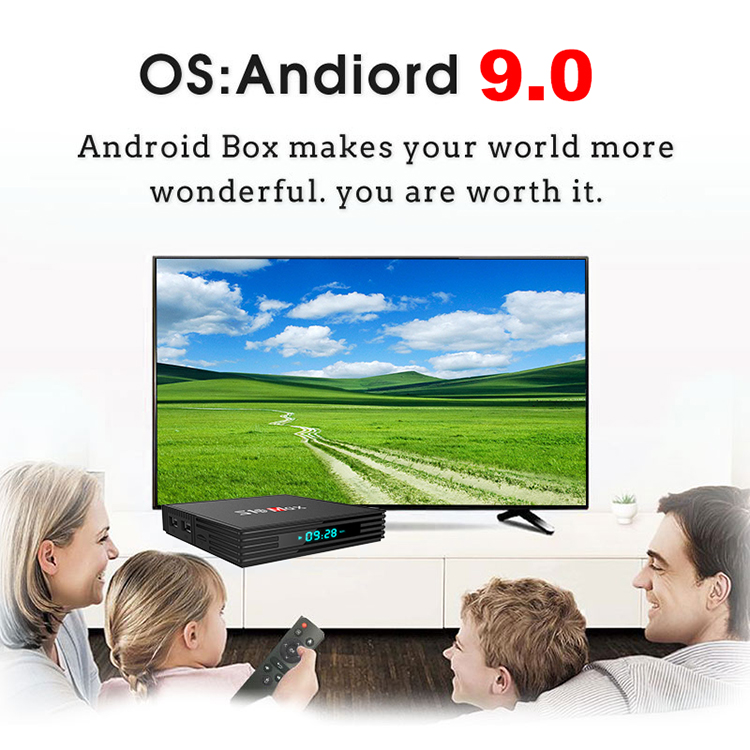 best selling S10 MAX Private model S905X2 android 9.0  tv box smart set top box free tv show