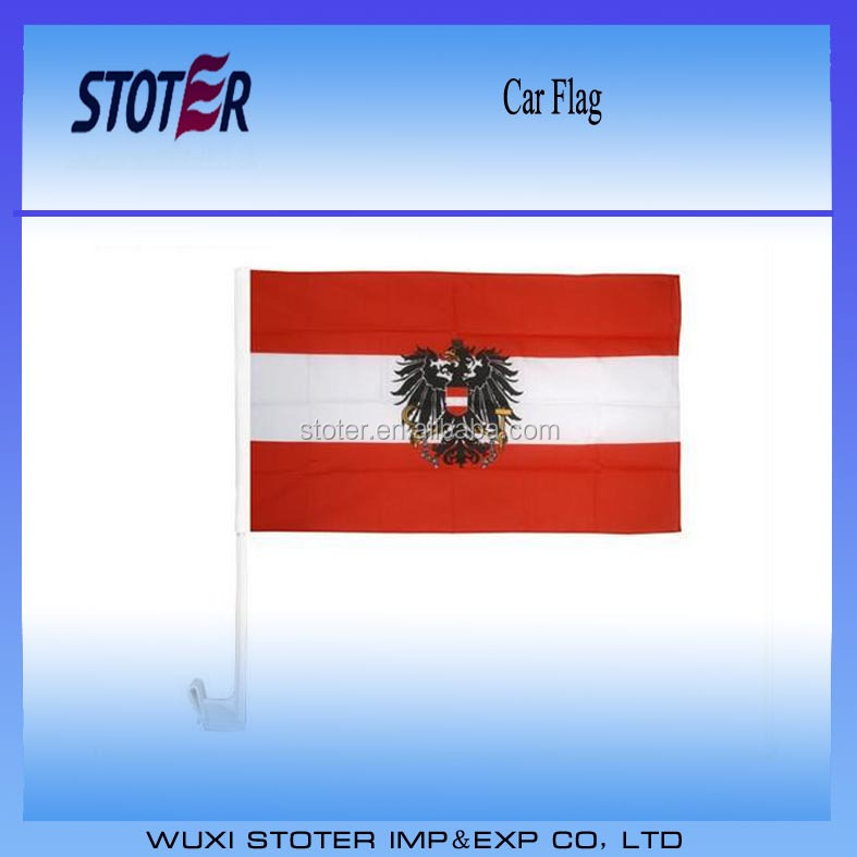 Car National Flags With Holder UEFA Euro 2016 Austria Car Flag