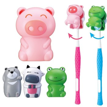 Funny Bathroom Accessories Suction Cup Animal Toothbursh