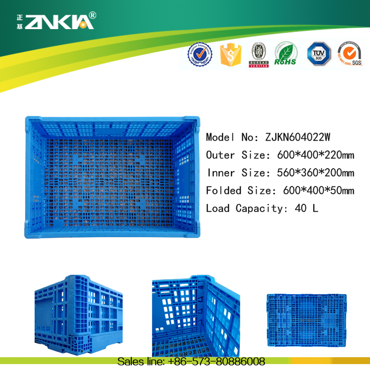 plastic foldable crate price fold up plastic crate for sale