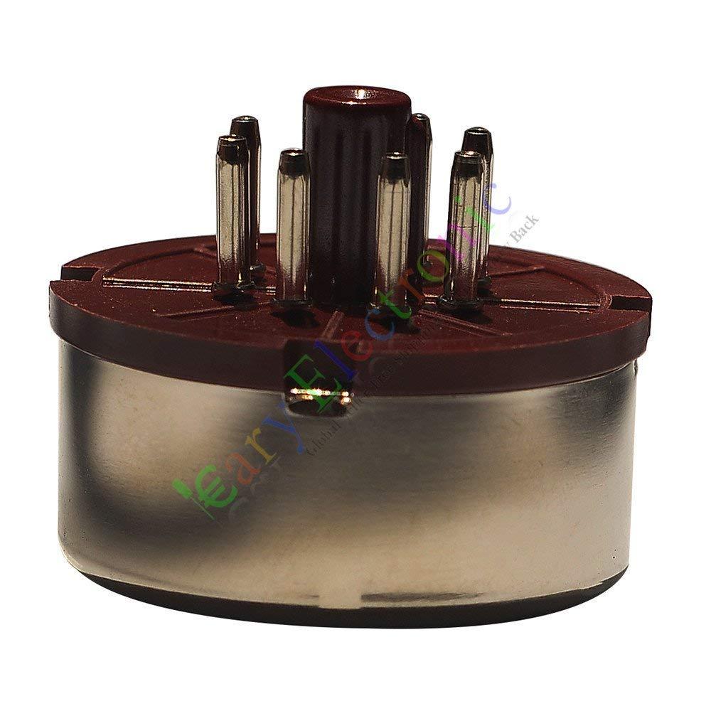 HF 10pc 7Pin Red Bakelite Vacuum Tube sockets base HIFI audio amplifier radio parts