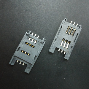Good Quality SIM Card Connector 6 Pin Slot Holder Pushing Type SIM Card Connector Heat Resisting UL RoHS SIM Card Manufacture
