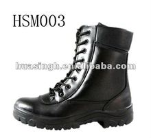 sweat absorption full leather army style patrol police man shoes,military boots